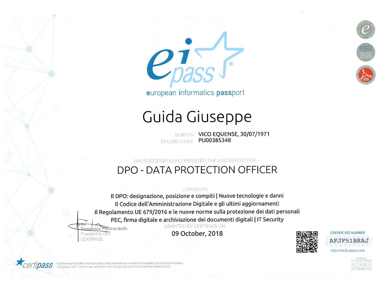 Certificazione Eipass